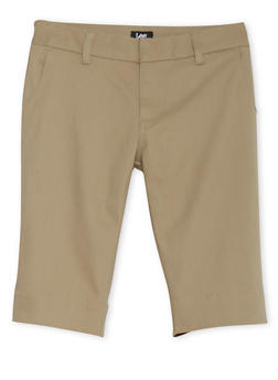 Junior School Uniform Bermuda Shorts - KHAKI - 5809008930030