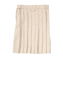 Girls 7-14 Below the Knee Pleated Skirt School Uniform - KHAKI - 5815008930020