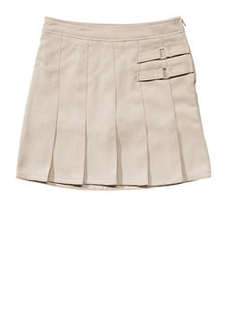 Girls 7-14 Two Tab Scooter School Uniform - KHAKI - 5816008930020