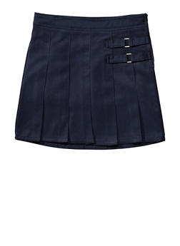 Girls 7-14 Two Tab Scooter School Uniform - NAVY - 5816008930020