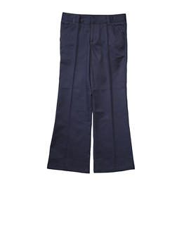 Girls 7-14 Adjustable Waist Pant School Uniform - NAVY - 5817008930030