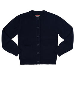 Girls 7-14 Cardigan Sweater School Uniform - NAVY - 5819008930020