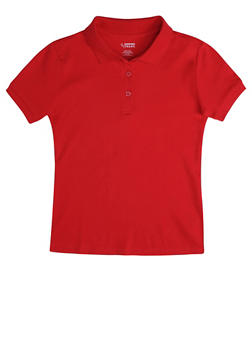Girls 16-20 Short Sleeve Interlock Polo School Uniform - 5823008930030