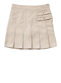 Girls 16-20 Two Tab Scooter School Uniform - KHAKI - 5827008930020