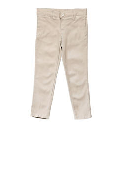 Girls 16-20 Skinny Stretch Twill Pant School Uniform - KHAKI - 5828008930021
