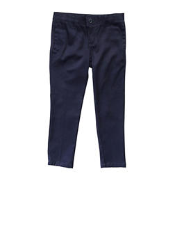 Girls 16-20 Skinny Stretch Twill Pant School Uniform - 5828008930021