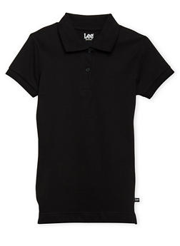 Junior Short Sleeve Polo School Uniform - BLACK - 5830008930020