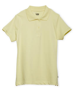 Junior Short Sleeve Polo School Uniform - YELLOW - 5830008930020