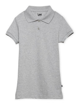 Junior Short Sleeve Polo School Uniform - GREY - 5830008930020