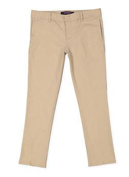 Girls Plus Size Adjustable Waist Pant School Uniform - 5839008930050
