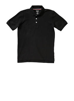 Boys 4-7 Short Sleeve Pique Polo School Uniform - BLACK - 5851008930050