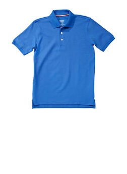 Boys 4-7 Short Sleeve Pique Polo School Uniform - RYL BLUE - 5851008930050