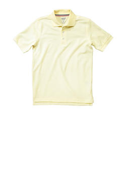 Boys 4-7 Short Sleeve Pique Polo School Uniform - GOLD - 5851008930050