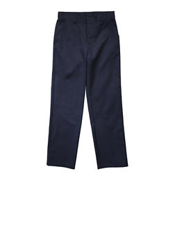 Boys 4-7 Adjustable Waist Straight Leg Twill School Uniform Pants - NAVY - 5855008930051