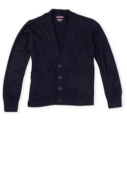 Boys 4-7 Cardigan Sweater School Uniform - NAVY - 5856008930021