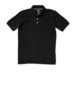 Boys 8-14 Short Sleeve Pique Polo School Uniform - BLACK - 5861008930050