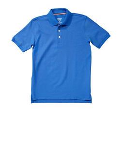 Boys 8-14 Short Sleeve Pique Polo School Uniform - RYL BLUE - 5861008930050