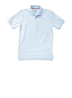 Boys 8-14 Short Sleeve Pique Polo School Uniform - SKY BLUE - 5861008930050
