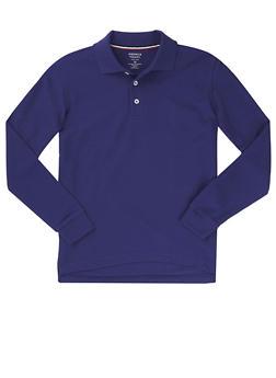 Boys 16-20 Long Sleeve Pique Polo School Uniform - 5873008930020