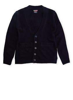 Boys 16-20 Cardigan Sweater School Uniform - 5876008930021