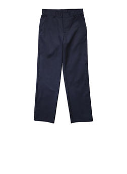 Boys Husky Adjustable Waist Straight Leg Twill School Uniform Pants - 5885008930051