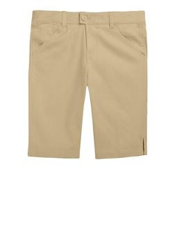 Girls 4-6X Bermuda Shorts School Uniform - KHAKI - 5900008930020