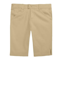 Girls 7-14 Bermuda Shorts School Uniform - KHAKI - 5901008930020