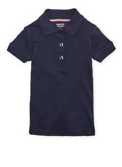 Girls 2T-4T Short Sleeve Interlock Polo School Uniform - NAVY - 5952008930020