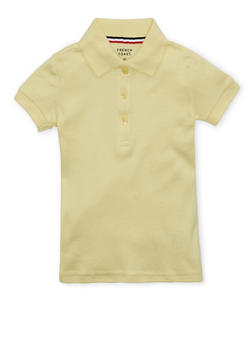 Girls 2T-4T Short Sleeve Interlock Polo School Uniform - YELLOW - 5952008930020