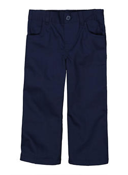 Girls 2T-4T Pull On School Uniform Pants - NAVY - 5961008930020