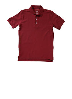 Boys 2T-4T Short Sleeve Pique Polo School Uniform - WINE - 5970008930050