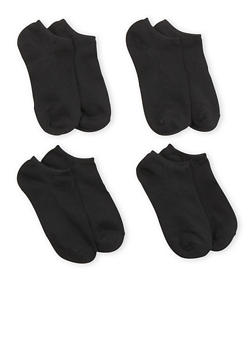 Plus Size 4 Pack Ankle Socks - 6045041455853