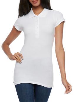 Solid Short Sleeve Polo Shirt - 6203054262537