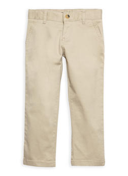 Boys 4-7 Khaki Chino School Uniform Pants - 6855008930054