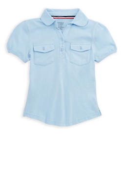 Girls 7-16 Double Pocket Polo Shirt School Uniform - 6905008930006