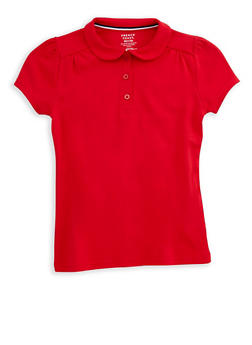 Girls 7-16 Short Sleeve Polo Shirt School Uniform - 6905008930013