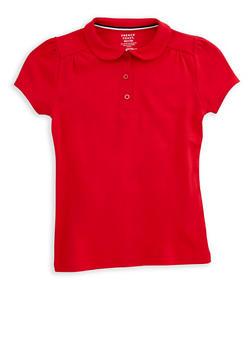 Girls 7-16 Short Sleeve Polo Shirt School Uniform - 6905008930013