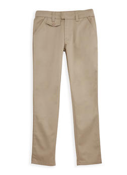 Girls 7-14 Adjustable Waist School Uniform Pants - 6925060990001