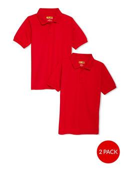 Boys 8-14 Short Sleeve Pique Polo - 2 Pack - School Uniform - 6938060990003