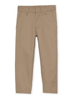 Boys 4-7 Adjustable Waist Twill School Uniform Pants - 6941060990001