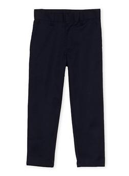 Boys 4-7 Adjustable Waist Twill School Uniform Pants - 6941060990002