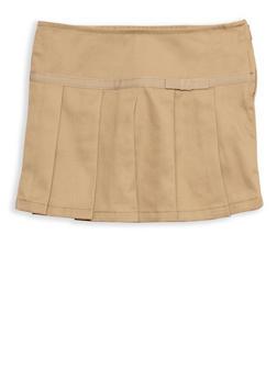 Girls 2T- 4T Pleated Skirt with Ribbon Trim School Uniform - 6960008930003