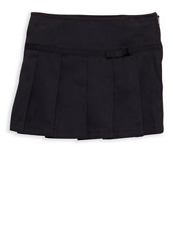 Girls 2T-4T Two Tab Scooter Skirt School Uniform - 6960008930004