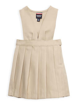 Girls 2T-4T V Neck Pleated Jumper School Uniform - 6963008930001
