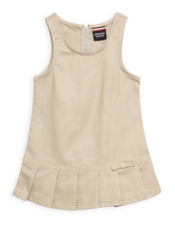 Girls 2T- 4T Pleated Hem Jumper School Uniform - 6963008930003