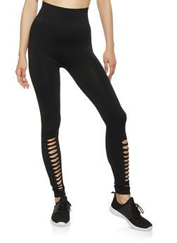 Laser Cut Detail Leggings - 7067059160304