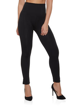 Pintuck Leggings | Black - 7067059162849
