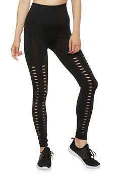 Laser Cut Leggings - 7067059162863