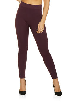 Solid Leggings | Plum - 7069041450199