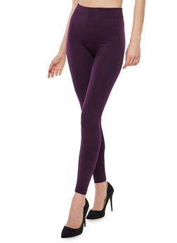 Plum Fleece Lined Leggings - 7069041450730